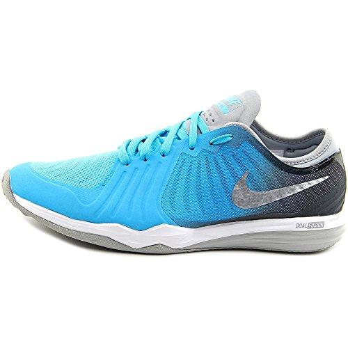Nike W Dual Fusion TR 4 Print, Chaussures de Gymnastique Femme gris - Gris (Bl Grey / White-Ocn Fg-Sqdrn Bl)