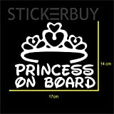 #4: stickerbuy Princess On Board Car Stickers Car Styling Baby on Board Decal