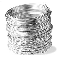 creac Raft Filo per gioielli set silver Styles, 25m in filo con effetti diversi (5m da stile)