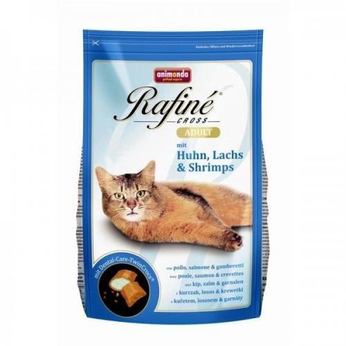 Animonda Rafine Cross Adult Huhn, Lachs & Schrimps 15 kg, Trockenfutter, Katzenfutter