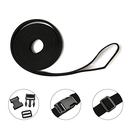 51FzyH62HLL. SS500  - 4m Nylon Webbing Strap Polypropylene Heavy Strap with Double Side Release Buckles Clips + Slides