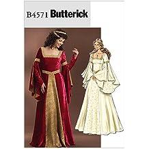 McCall's Patterns Butterick B4571 - Patrón con instrucciones para coser disfraces de doncella (tallas de L a XXL), color blanco