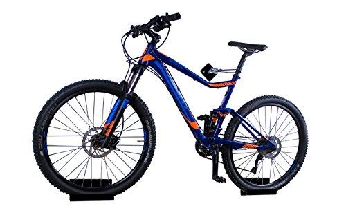 trelixx Fahrrad Wandhalter schwarz Hochglanz Plexiglas® Acrylglas, platzsparende Fahrradaufbewahrung, Design Radhalter Wandmontage