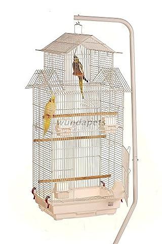 Wundapets Cage à oiseaux avec support pour perruches et canaris