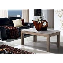 Mesa de centro elevable. Fabricada a mano en España con madera de fresno. Medidas 110x60x48 (elevable a 62) cm (Blanco y nórdico)