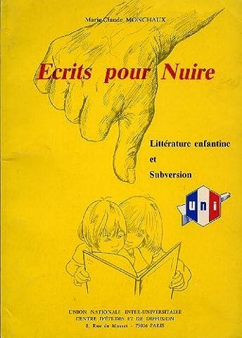 Écrits pour nuire : Littérature enfantine et subversion