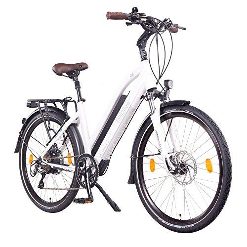 "NCM Milano Plus 48V 26\"" Zoll Damen & Herren Urban E-Bike, 250W Das-Kit Heckmotor, 16Ah 768Wh Panasonic Li-Ion Zellen Akku, hydraulische Scheibenbremsen, 8 Gang Shimano Schaltung"
