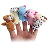 #2: Toywale™ Animal Finger Puppet, Multi Color (Pack of 10)