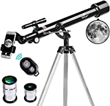 Best Telescopes Beginner Astrophotography Telescopes - Gskyer Telescope, Instruments Infinity 60mm AZ Refractor Telescope Review