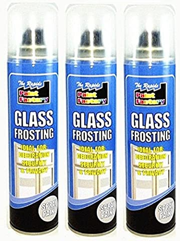 3x Glass White Frosting Spray Paint Can Window Security Privacy
