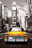 GB EYE LTD New York Taxi Poster Yellow Cab, sepia