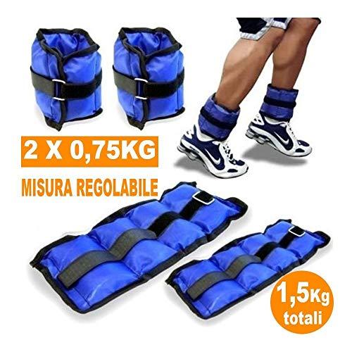 TrAdE Shop Traesio - Pesi Caviglie Polsi CAVIGLIERA Sport Arti Marziali Fitness CAVIGLIERE Peso 1,5KG