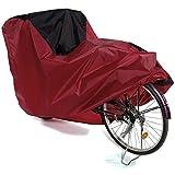 Copribici Copri Bicicletta Copertura Biciclette Antipolveri Antipioggia Telo Protettivo Impermeabile per 1 Bicicletta, Nero Rosso