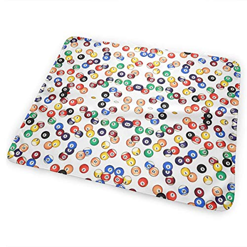Voxpkrs Billiards Balls Baby Crib Pee Changing Pad Mat Mattress Protector for Toddler Kids Infant Pets