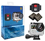 4K Action Camera Wifi Waterproof Camera sportiva EKEN H8R con Video 2 Batterie, 4K30/ 2.7K30/ 1080p60/ 720p120fps,12MP Foto e 170 lenti grandangolari, include 17 kit di montaggio (Silver)