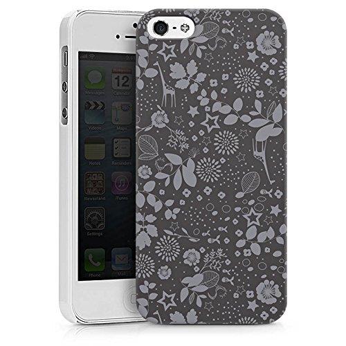 Apple iPhone X Silikon Hülle Case Schutzhülle Giraffen Sterne Grau Hard Case weiß