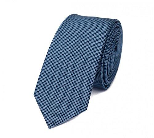 Fabio Farini karierte 6 cm Krawatte, für jeden Anlass mit Karomuster in mehreren Farben (Blau) -