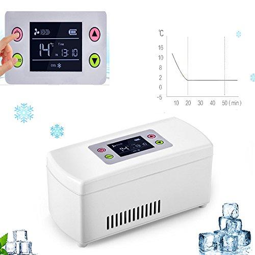 Funwill insuline Cooler refroidissement Coque insuline Cooler Coque Portable Reefer Voiture Petit réfrigérateur froid Mini box Portable Drug Reefer Mini Drug Température constante réfrigérateur 2–8℃