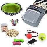 Petacc Futtertasche für Hunde Futterbeutel Hundetraining Verstellbare Hutteraufbewahrung für Hund mit Bauchgurt
