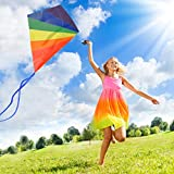 aGreatLife® Diamond Kite Easy Flyer: Best Beach and Summer Kite for Kids and Adults - Launches at the Slightest Breeze - Highly Durable - Includes eBook, String and Spool - Perfect for Outdoor Games