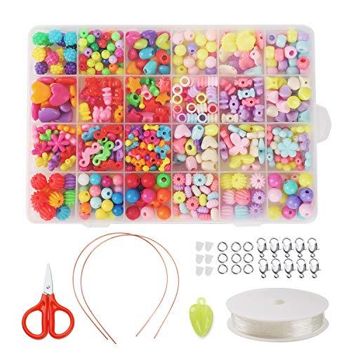 Preisvergleich Produktbild 24 Arten Bunte Baby Perlen für Armbänder,  DIY Baby Stringing Buchstaben Perlen Acryl Perlen für Schmuck Machen,  Armbänder,  Halsketten,  Schlüsselanhänger und Kinder Schmuck (Candy)