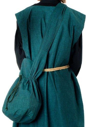tracolla a Marrone Verde Beige Rosso Nero Verde L Custodia in HEMAD – medievale Borsa cotone Blu 4awn5RE