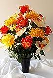 roselynexpress Composition de Fleurs artificielles en cône lesté Ciment pour Une Parfaite Tenue de Votre Bouquet de Fleurs,Plus Besoin de Sable, ce Vase en PVC Se dépose dans Un Vase funéraire.