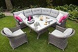 Lounge Eckbank Salondi Souris hochwertig großer Tisch mit Glasplatte