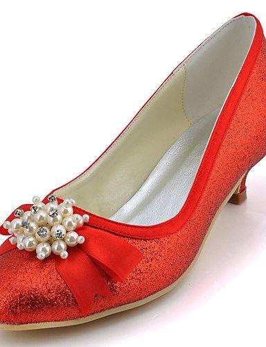 WSS 2016 Chaussures de mariage-Noir / Bleu / Jaune / Rose / Violet / Rouge / Blanc / Argent / Or / Beige / Amande-Mariage / Habillé / Soirée & 1in-1 3/4in-silver