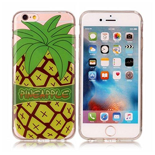 """Coque iPhone 6 Plus / 6S Plus , IJIA Ultra-mince Transparent Rouge Brillant Fleurs TPU Doux Silicone Bumper Case Cover Shell Skin Housse Etui pour Apple iPhone 6 Plus / 6S Plus 5.5"""" XS53"""