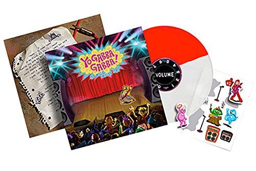 Yo Gabba Gabba Hey Vinyl-Aufkleber, Rot / Weiß (Gabba Yo Gabba Dj)