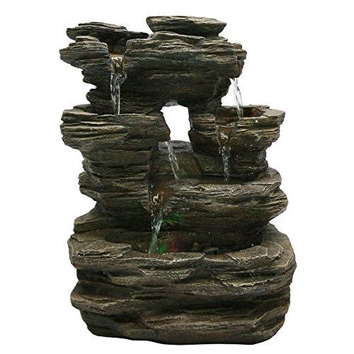 Fuente de piedra para jardín Zen Piedra Gris