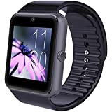 immagine prodotto Smartwatch Android, Willful Smart Watch Telefono con SIM Card Slot Fotocamera Cronometro OLED Touch Screen Orologio Fitness Watch Android Wear per iPhone Samsung Sony Android iOS Smartphone per Donna Uomo Sports Running ( Pedometro, Calorie, Distanza, Monitor del Sonno, Notifiche Chiamate & SMS, Notifiche APP ( WhatsApp, Facebook, Skype...), Lettore Video & Musica, Telecomando Fotocamera, Sveglia )【No APP per iPhone】