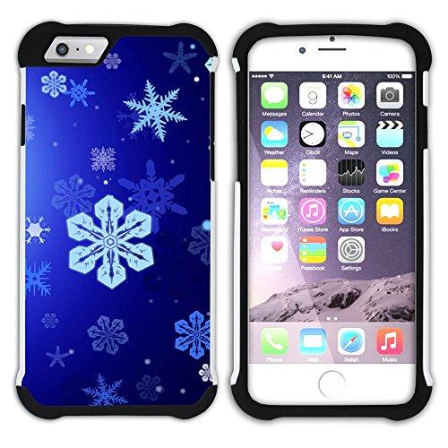 Graphic4You Schnee Schneeflocke Winter Muster Hart + Weiche Kratzfeste Hülle Case Schale Tasche Schutzhülle für Apple iPhone 6 / 6S Design #20