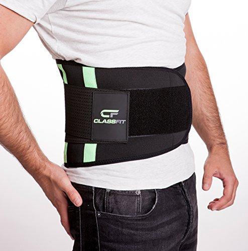 Rückenbandage für Alltag und Sport | Der zuverlässige Rückenstützgürtel schützt vor Verletzungen | Doppelverschluss für perfekten Sitz der Rückenstütze | Moderner Rückengürtel in 5 Größen (Größe: L)