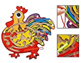 Multicolor Wooden Puzzle Magnetic Maze Labyrinth Toy for Kids - Ages 3+Years (Cock Design)
