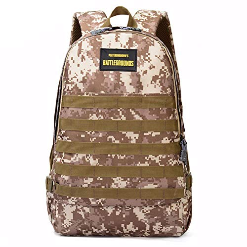 LHJ Camouflage-Schultasche, 15,6-Zoll-laptoprucksack, Verschleißfest Wasserdicht Getarnt, Geeignet Für Studenten, Militärbegeisterte, Alltag,Yellow,48 * 34 * 21cm