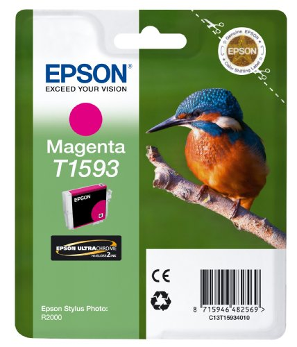 Preisvergleich Produktbild Epson T1593 Tintenpatrone Eisvogel, Singlepack, magenta