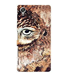Printvisa Brown Owl Back Case Cover for Sony Xperia X::Sony Xperia X Dual F5122 with dual-SIM card slots
