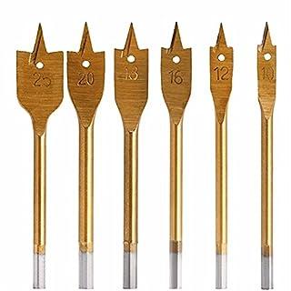 GS 610–25mm Titan lang flach-Bohrer Sechskantschaft Spaten Bits Holz Flach langweilig Bit Power Tools Lochsägen Bohrkronen