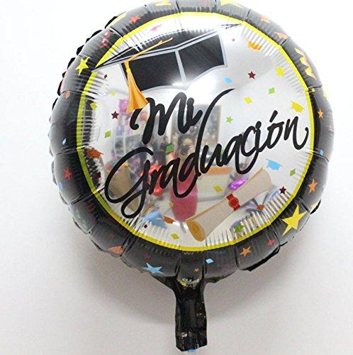BIEE Graduación Globo decoración de globos Graduación de fiesta Suministros,3 piezas (graduación, 45 * 45cm)