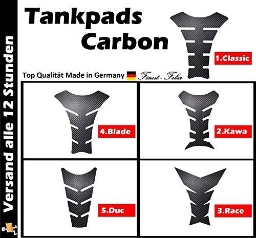 Motorrad Tankpad Carbon Design (1. Classic) von Finest-Folia