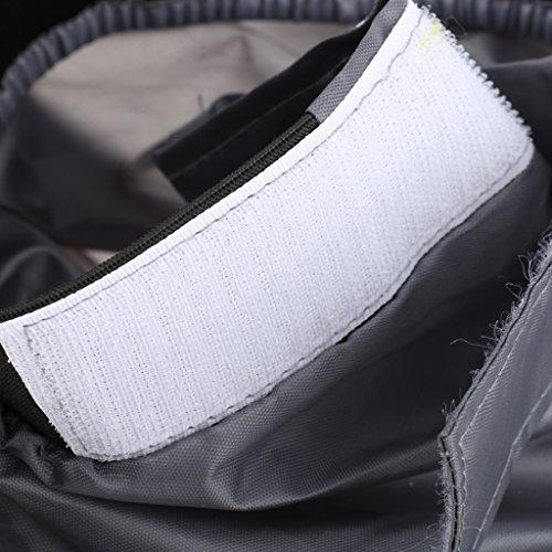 Gazechimp Einstellbar Spritzdecke Spritzschutz für Kajak Kayak Nylon Grau