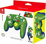 HORI Battle Pad (Luigi) - Manette USB style GameCube pour Switch - Officielle Nintendo