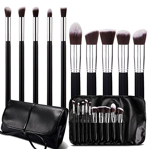Davidlove - Set di pennelli per make up, confezione da 10pezzi - Brown Flask