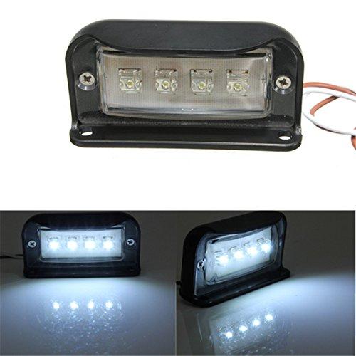 Preisvergleich Produktbild SOLMORE 4 LEDs Kennzeichenbeleuchtung Nummernschildbeleuchtung Motorrad Kennzeichen Licht LKW Anhänger Wasserdicht 1000LM.