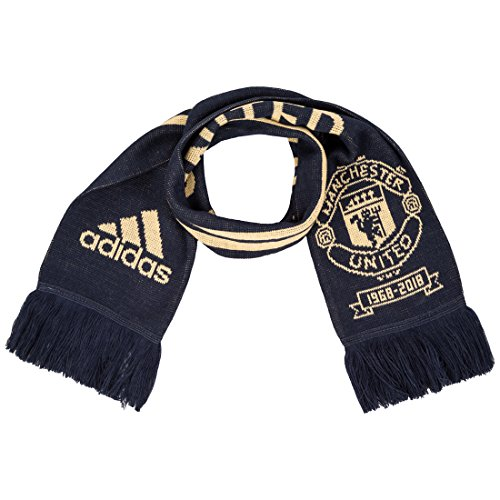 adidas Manchester United FC Écharpe Taille Unique Collegiate Navy Matte Gold  Night Navy 43186d5bfc3