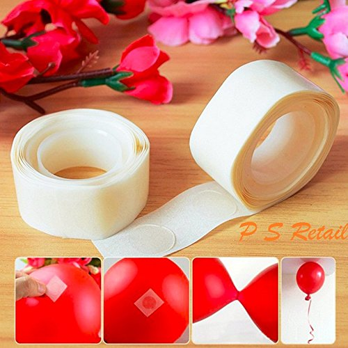 Ps Retail 200Pcs /Lot Removable Balloon Glue Party Glue Dot Foil Balloons Mariage Supplies