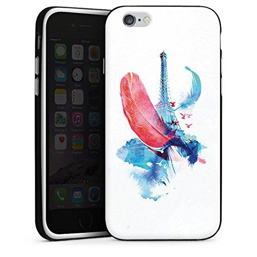Apple iPhone 4 Housse Étui Silicone Coque Protection Ressort Art Tour Eiffel Housse en silicone noir / blanc