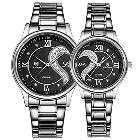 OOFIT His and Hers Matching Watches - Stainless Steel Couple